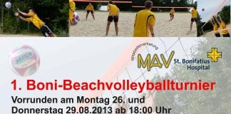 1. Boni-Beachvolleyballturnier in Lingen