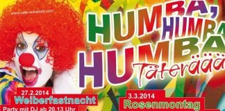 Rosenmontag im Extrablatt in Lingen