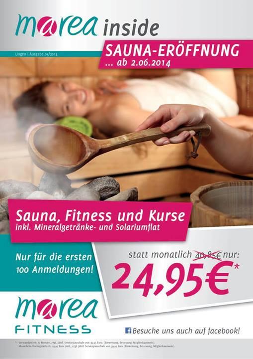 Sauna-Eröffnung bei marea Fitness Lingen