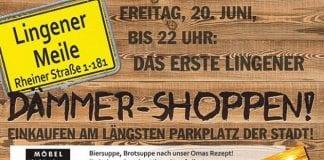 Dämmer-Shoppen auf der Lingener Meile