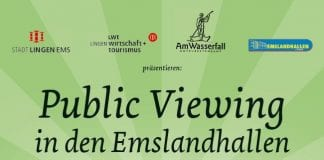 Public Viewing in den Emslandhallen 2014