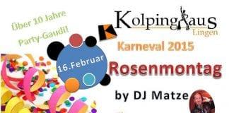 Rosenmontag im Lingener Kolpinghaus 2015
