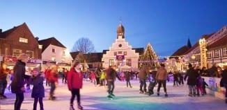 Eislauffläche auf dem Weihnachtsmarkt in Lingen © MK Art