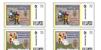 Briefmarkenset zum Kivelingsfest 2017