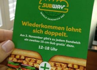 World Sandwich Day bei Subway