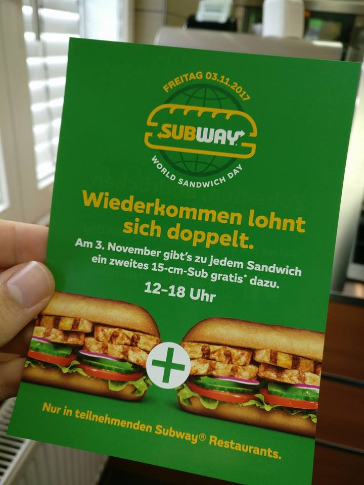 World Sandwich Day bei Subway