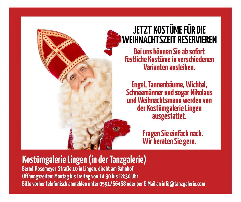 Weihnachtliche Kostüme bei Tanzgalerie Lorenz